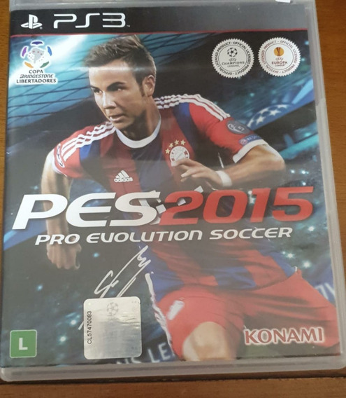Jogo De Ps3- Pes 2015 Pro Evolution Soccer