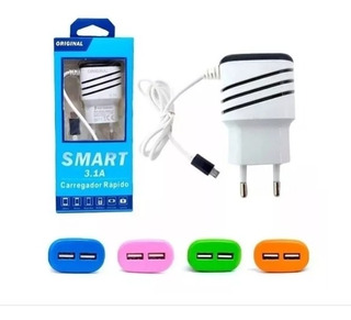 Carregador Rápido Smart 3.1a Original 2 Usb