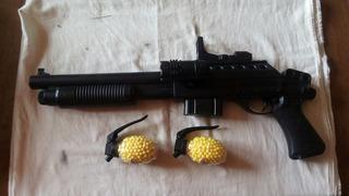 Pistola Rifle Airsoft Juguete 240fps Resorte Con Linterna