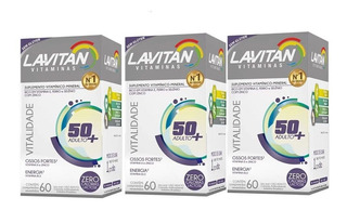 3un Lavitan Sênior Vitalidade Total 180 Comprimidos
