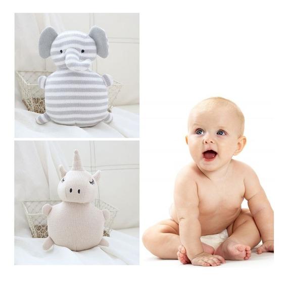 Bicho Pelúcia Urso Bebê Naninha Chocalho Decoração Infantil
