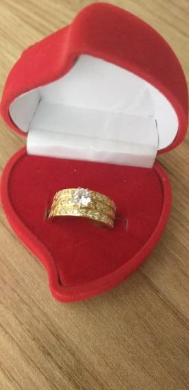 Aliança De Casamento Em Ouro 18k Noivado Namoro Compromisso