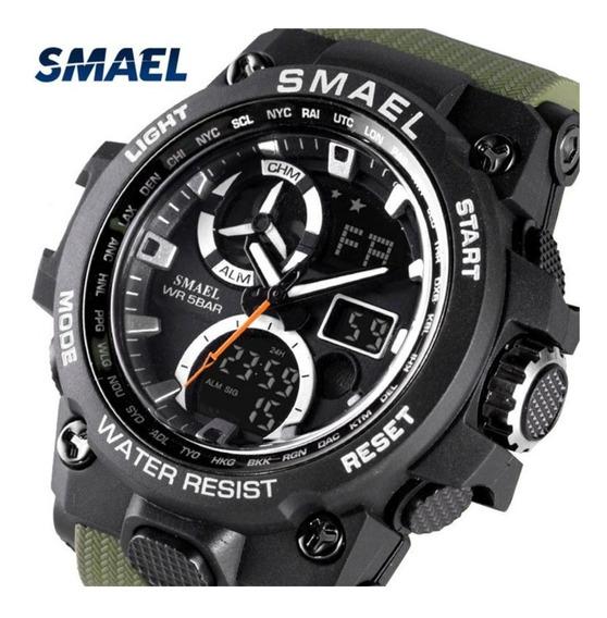 Relógio Smael Shock Militar Esportivo Digital Analógico 50m
