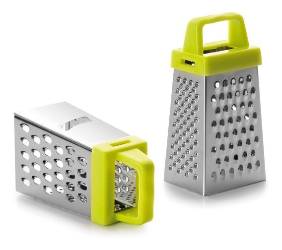 Rallador Mini De Cocina Con 4 Lados De Acero Inox Ibili