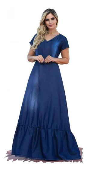 Roupas Femininas Moda Evangélica Vestido Longo Perolas 0043