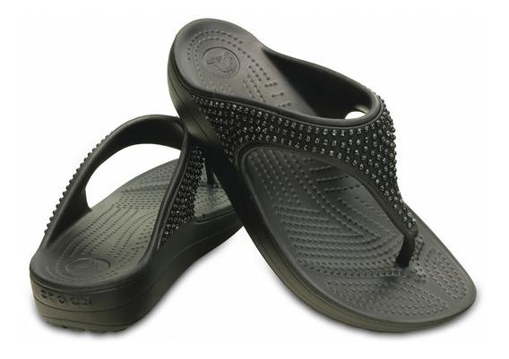 Tamanco Chinelo Sloane Diamante Crocs Original Confort