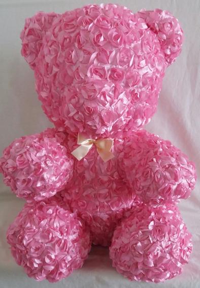 Urso De Pelúcia Rosas $ Unit Vermelho Ou Rosa 60cm Foto Real