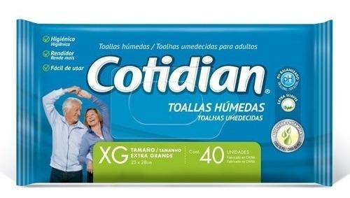 Imagen 1 de 1 de Toallitas Húmedas Cotidian Adulto X40