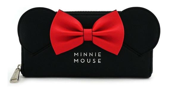 Carteira Loungefly Minnie Disney Preta Laço 100% Original