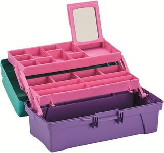 Caja Organizadora Vanity 14 Verde/lila Rimax Rx3436