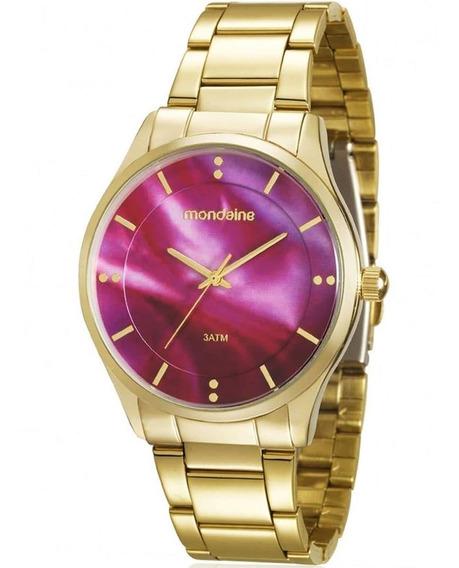 Relógio Feminino Mondaine 99089lpmvde1 Fundo Rosa