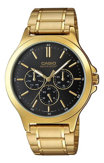 Reloj Casio Hombre Dorado Mtp-v300g-1audf