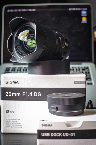Lente Sigma Art 20mm F1.4 - Canon - Apenas A Lente
