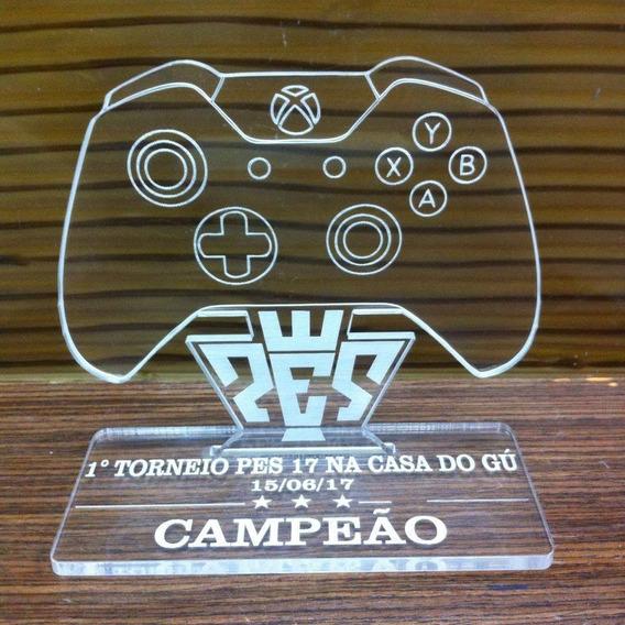 Troféu Controle Xbox Personalizado De Acrilíco