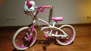 Bicicleta De Nena Infantil Hello Kitty Rodado 16