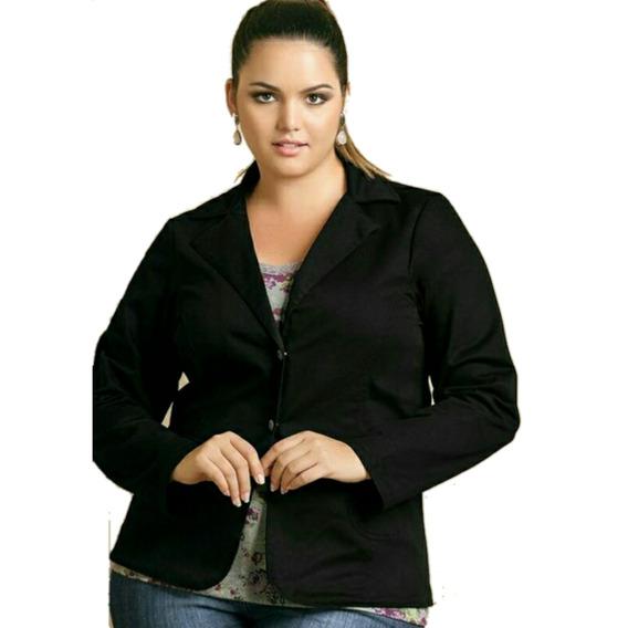 Blazer Saco De Mujer Gabardina Elastizada Talles Grandes