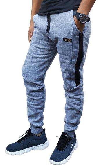 Pantalon Joggin Babucha Combinado Doble Frisa Hombres