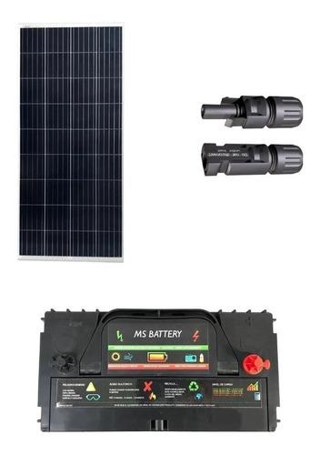 Imagen 1 de 1 de Kit Solar 100w Bateria 120 12v 120ah Conector Mc4