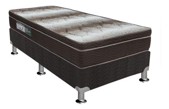 Conjunto Box-colchão Ortobom Ortopédico Light+cama Universal Black Solteiro 88