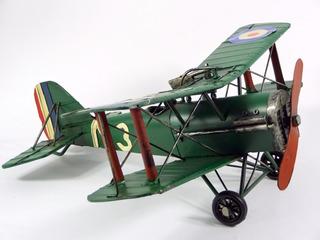 Miniatura Avião De Guerra Retro Em Lata 32 Cm - La Verne