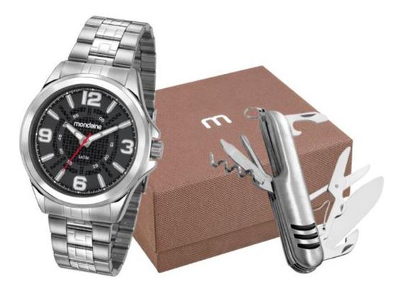 Kit Relógio Mondaine Masculino 83419g0mvne1ka