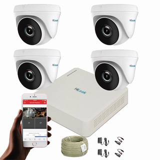 Cámaras De Seguridad Kit Cctv 720p Hilook Mini Dvr 8ch+4cám
