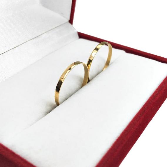 Alianzas Oro 18k 1gr Par Anillos Compromiso Casamiento Promo