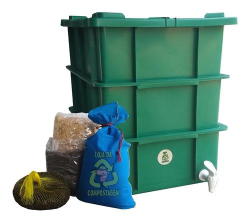 Compostagem - Kit Completo - Recicle Lixo Orgânico - Húmus