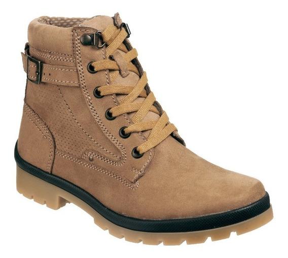 Zapato Unyk Dama Tipo Bota De Alta Comodidad Color Avellana