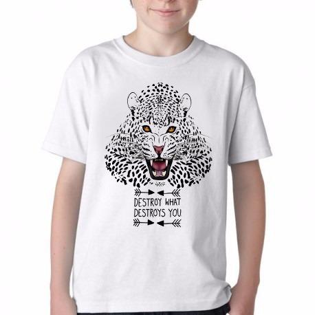 Camiseta Blusa Infantil Onca Pintada Animais Extin Tamanhos R