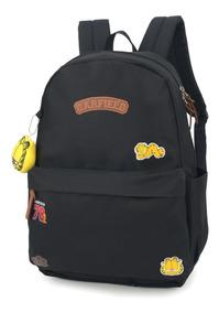 Mochila Escolar Feminina Note Garfield Com Chaveiro 48519