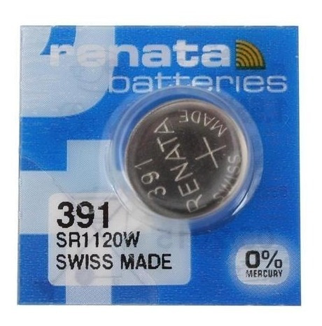 Bateria 391 De Óxido De Prata - 1 Unidade