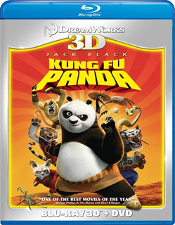 Kung Fu Panda Blu Ray 3d + Dvd