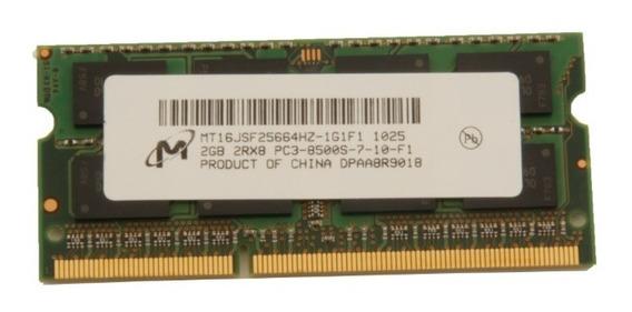 Memória Micron Notebook Ddr3 2gb 2rx8 Pc3-8500s-7-10-f1 Sony