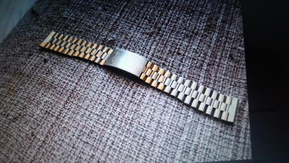 Pulseira Mido Original Inox Antiga Para Relógio Masculino