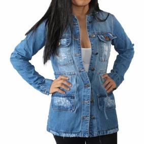 Jaqueta Parka Jeans Feminina Lady Rock
