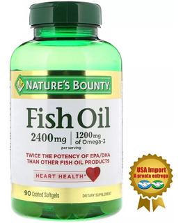 Fish Oil (ômega 3), 2400mg, Nature