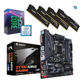 Kit 9a Geração I5 9600k Z370m Gaming Aorus 4x 8gb Fury I