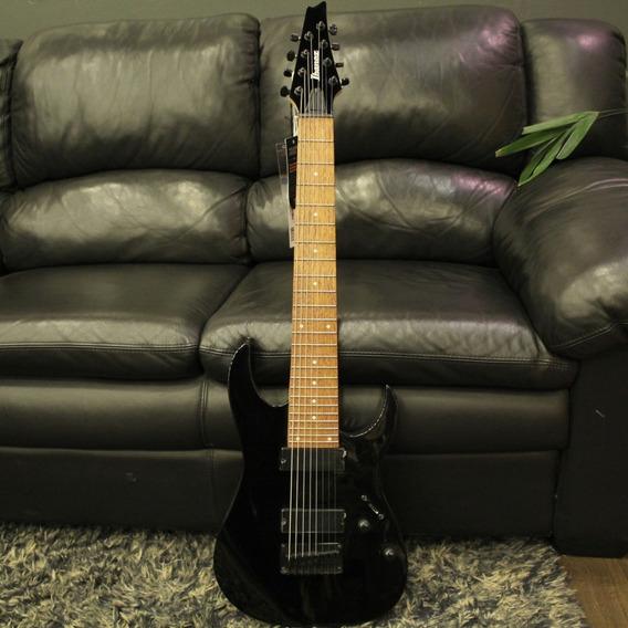 Guitarra Ibanez 8 Cordas Rg8 Black Preto