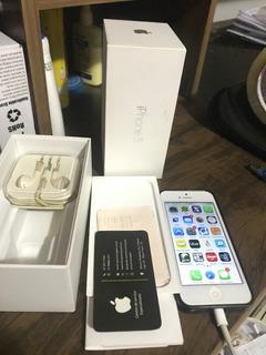 iPhone 5 Branco 16gb Usado Com Caixa E Fone