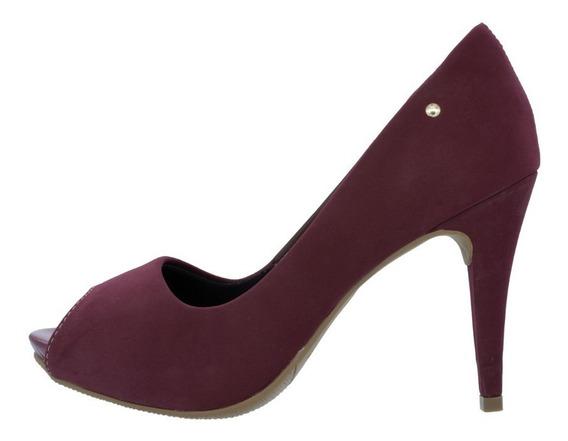 Sapato Peep Toe Casual Feminino Promoçao