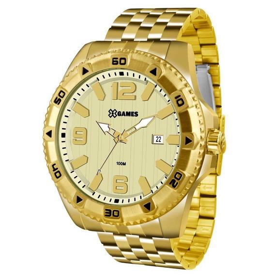Relógio X Games Masculino Xmgs1025 C2kx Big Case Dourado