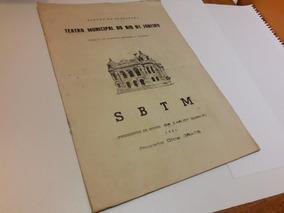 Programa 1961 22/04 Sbtm Apresenta Rostropovich Autografado
