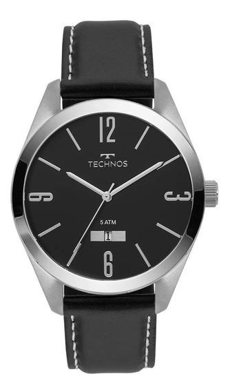 Relógio Technos Masculino Classic 2115mnx/1p Couro Preto