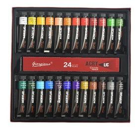 Imagen 1 de 7 de Pintura Acrílica Profesional 24 Colores 12 Ml Por Botella