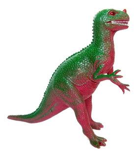 Dinosaurio Goma N19 Ceratosaurus Mediano Juguete Dinos