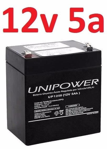 Bateria 12v5a Unipower Nova Pode Durar Mais D 3 Anos Nobreak