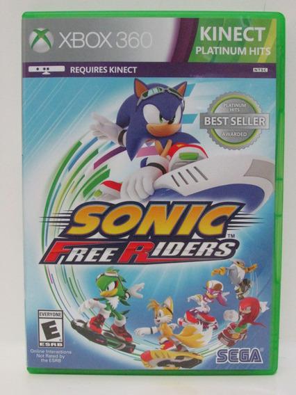 Sonic Free Riders Xbox 360 Completo E Original Mídia Física