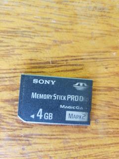 Cartão De Memória Sony Memory Stick Pro Duo De 4gb -original