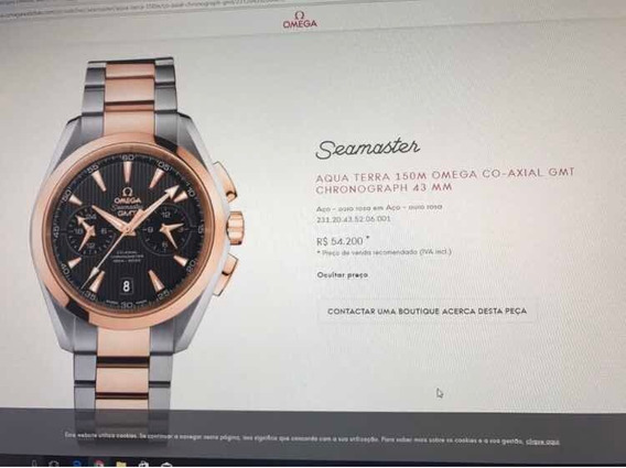 Relogio Omega Ouro Rosa Completissimo Troco Patek E Rolex
